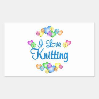 I Love Knitting Stickers
