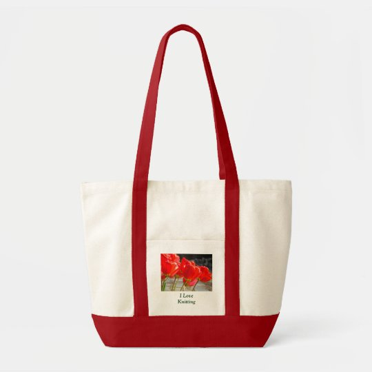 I Love Knitting tote bags Knitting yarn bag custom