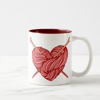 I Love Knitting Two-Tone Coffee Mug