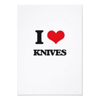 """I Love Knives 5"""" X 7"""" Invitation Card"""