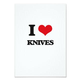 """I Love Knives 3.5"""" X 5"""" Invitation Card"""