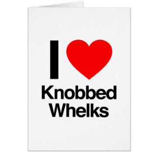 i love knobbed whelks greeting card