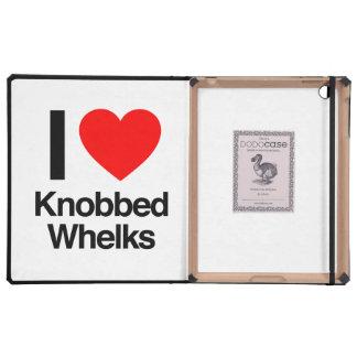 i love knobbed whelks iPad folio cases