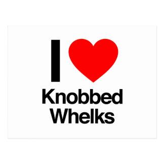 i love knobbed whelks postcard