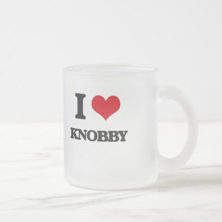 I Love Knobby 10 Oz Frosted Glass Coffee Mug