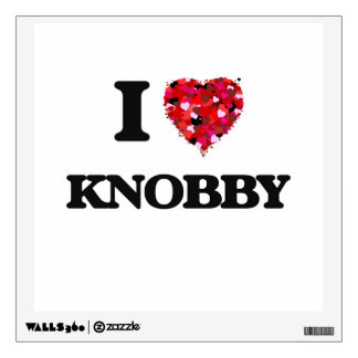 I Love Knobby Room Graphic