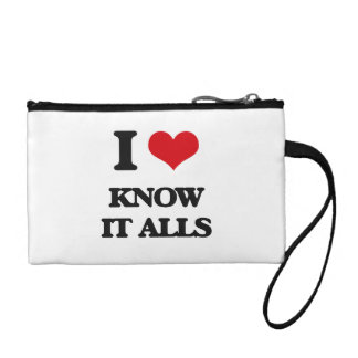 I Love Know It Alls Coin Purses