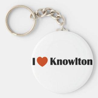 I Love Knowlton Keychain