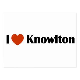 I Love Knowlton Postcard
