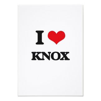 "I Love Knox 5"" X 7"" Invitation Card"