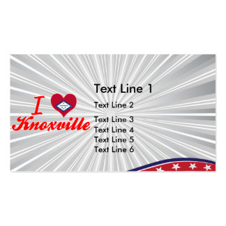 I Love Knoxville, Arkansas Double-Sided Standard Business Cards (Pack Of 100)