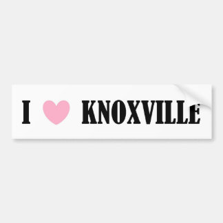 I LOVE KNOXVILLE BUMPER STICKER