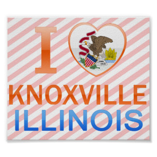 I Love Knoxville, IL Print