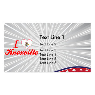 I Love Knoxville, Illinois Double-Sided Standard Business Cards (Pack Of 100)