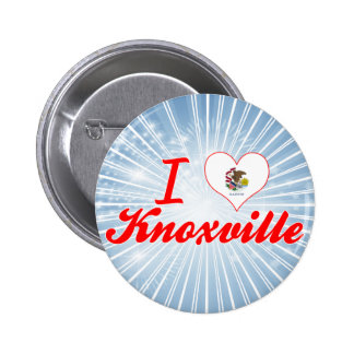 I Love Knoxville Illinois Pinback Button