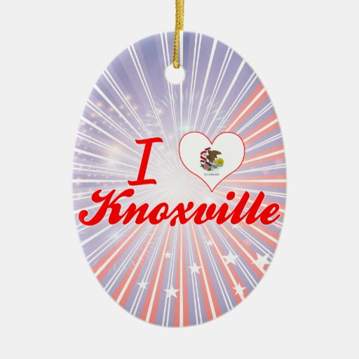 I Love Knoxville, Illinois Christmas Ornament