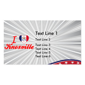 I Love Knoxville, Iowa Double-Sided Standard Business Cards (Pack Of 100)