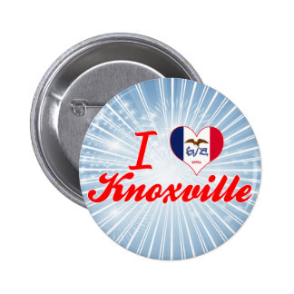 I Love Knoxville Iowa Pinback Buttons