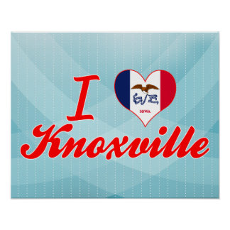 I Love Knoxville, Iowa Poster