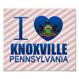 I Love Knoxville, PA Print