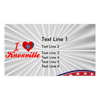 I Love Knoxville, Tennessee Double-Sided Standard Business Cards (Pack Of 100)