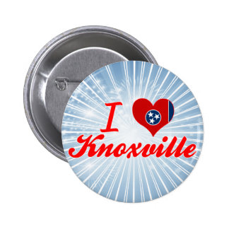 I Love Knoxville Tennessee Button