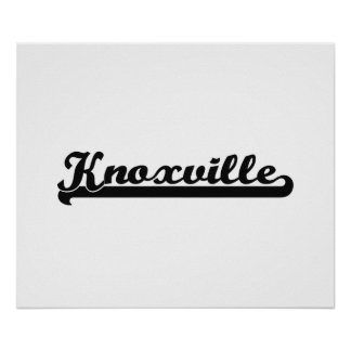 I love Knoxville Tennessee Classic Design Poster