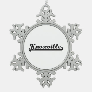 I love Knoxville Tennessee Classic Design Snowflake Pewter Christmas Ornament