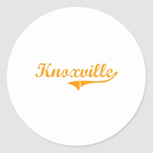 I Love Knoxville Tennessee Round Stickers