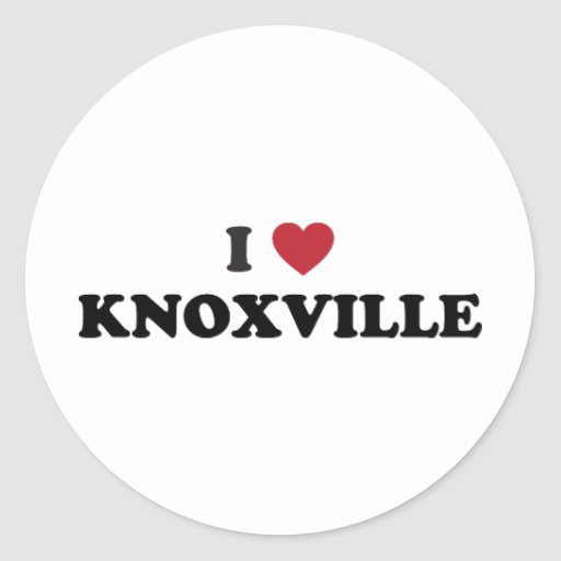 I Love Knoxville Tennessee Sticker