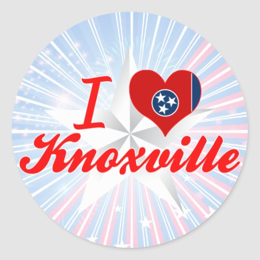 I Love Knoxville, Tennessee Sticker