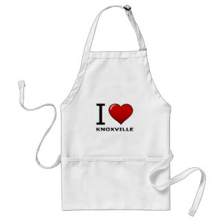 I LOVE KNOXVILLE,TN - TENNESSEE ADULT APRON