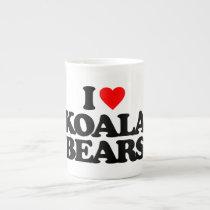 I LOVE KOALA BEARS BONE CHINA MUG