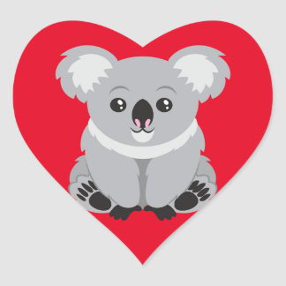 I Love Koala Bears Heart Sticker