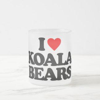 I LOVE KOALA BEARS 10 OZ FROSTED GLASS COFFEE MUG