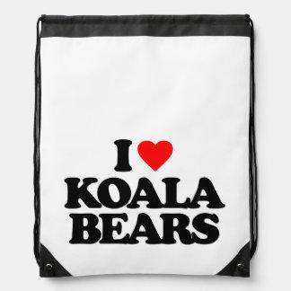 I LOVE KOALA BEARS CINCH BAGS