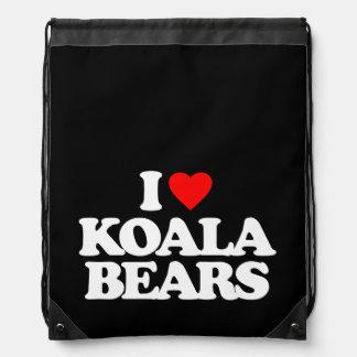 I LOVE KOALA BEARS CINCH BAG