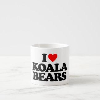 I LOVE KOALA BEARS 6 OZ CERAMIC ESPRESSO CUP