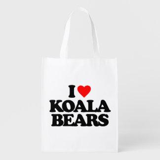 I LOVE KOALA BEARS GROCERY BAG