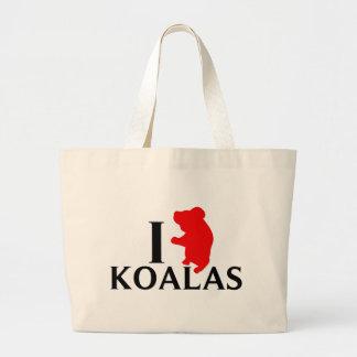 I Love Koalas Tote Bags