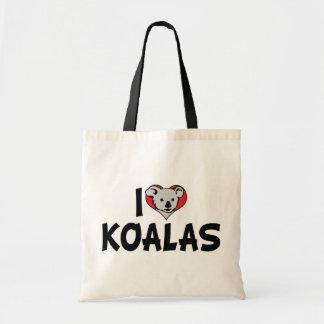 I Love Koalas Tote Bag