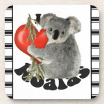 I Love Koalas Beverage Coasters