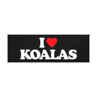 I LOVE KOALAS GALLERY WRAP CANVAS