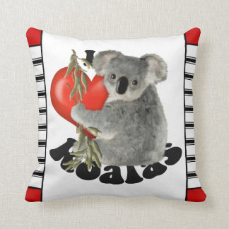I Love Koalas Cute Throw Pillow