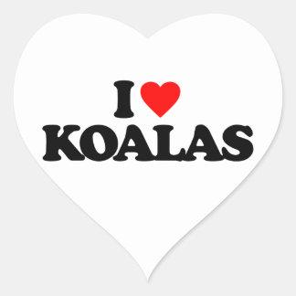 I LOVE KOALAS HEART STICKER