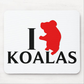 I Love Koalas Mouse Pad