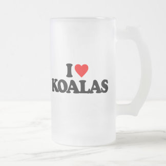 I LOVE KOALAS FROSTED BEER MUG