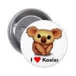I love Koalas Pinback Buttons