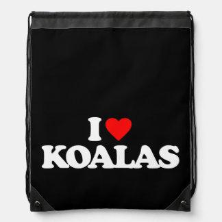 I LOVE KOALAS CINCH BAG