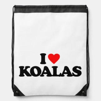 I LOVE KOALAS CINCH BAGS